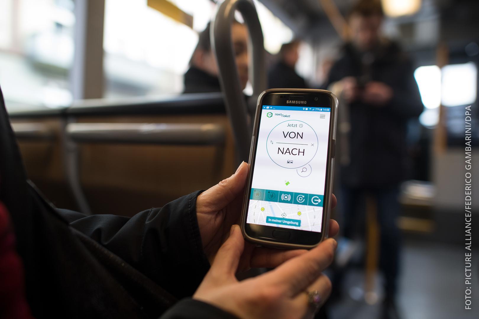 Smartphone App nextticket VRR