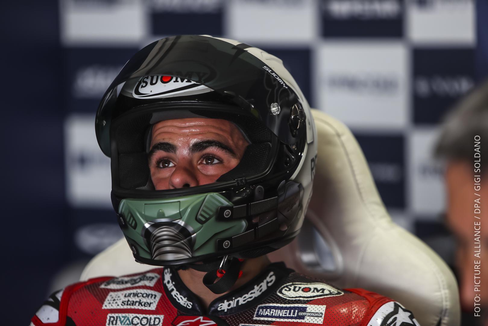 Der italienische Motorrad-Rennfahrer Romano Fenati